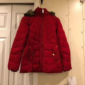 Michael Kors Puffer Coat in red